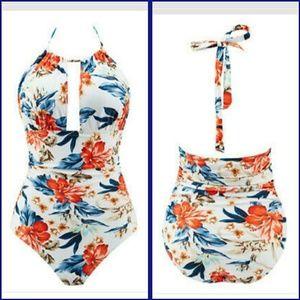 👙Women's one piece push-up bandage swimsuit